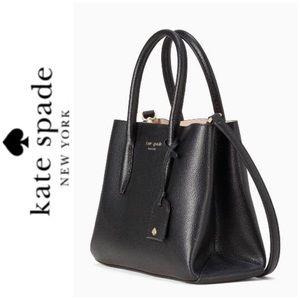 NWT Kate Spade genuine Eva leather satchel black